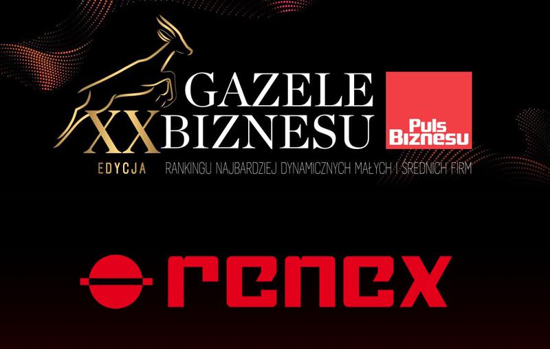 Firma RENEX odznaczona tytułem Gazeli Biznesu
