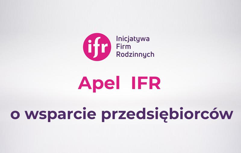 Apel IFR o wsparcie przedsiębiorców