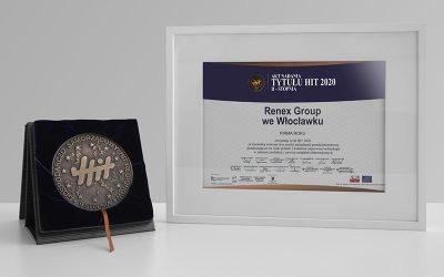 RENEX Group awarded HIT 2020 title