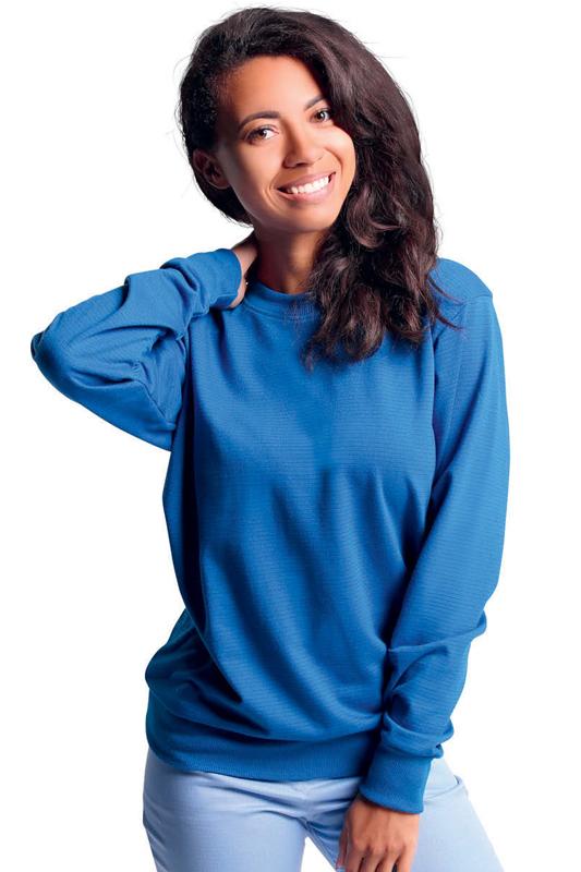 Blue antistatic sweatshirt