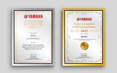 Grupa RENEX odznaczona Certyfikatem Złotej Jednostki Szkoleniowej YAMAHA